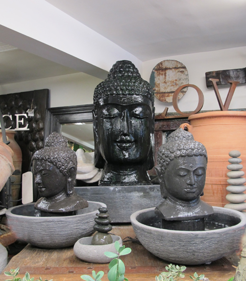Large Buddha Head Fountain: Designers Views - Come In. Get Lost.